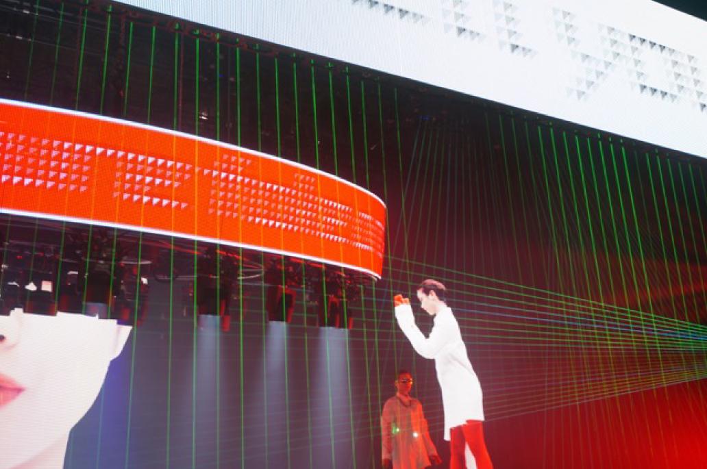 「ライブ・エンターティメントEXPO 2018」 AVCブースにて、レーザーシステムサポート